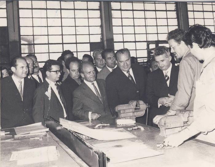 poze fotografii din vechiul Bucuresti - inspectiile lui Ceausescu pe santiere 207
