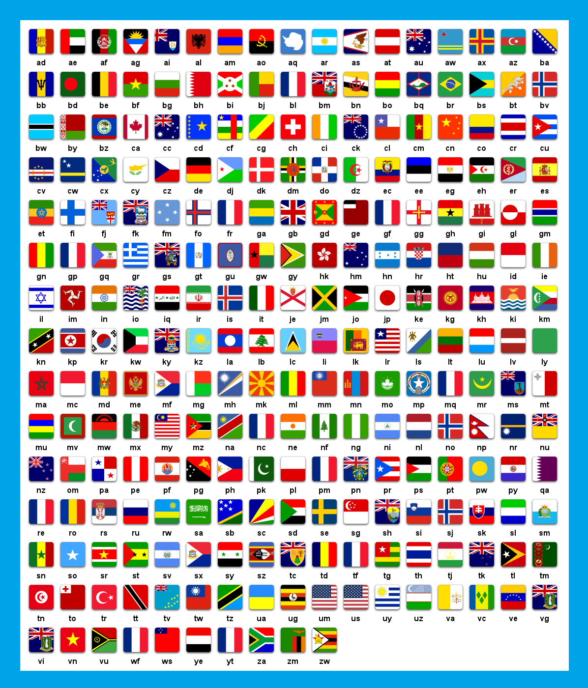 countries-flags-and-their-short-names