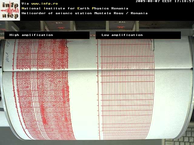 inregistrator seismic muntele rosu